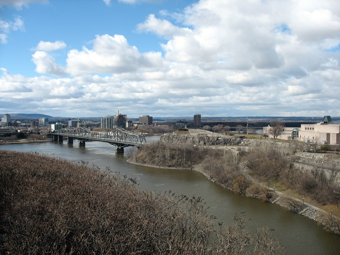 Мост в Гатино Канада Bridge to Gatineau Canada