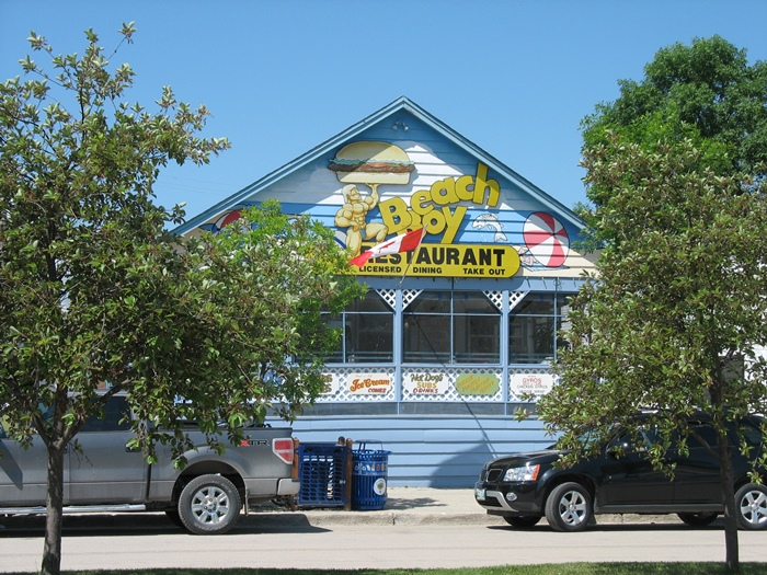 Гимли Манитоба Gimli Manitoba Beach Boy restaurant