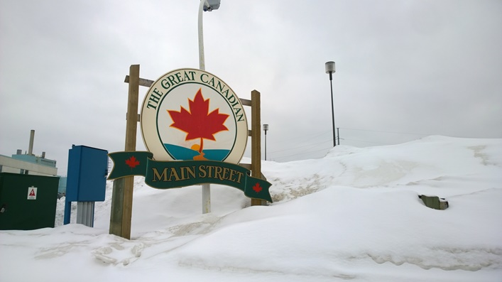 The Great Canadian Main Street в Форт Френсис, Онтарио, Канада. Fort Frances, Ontario, Canada