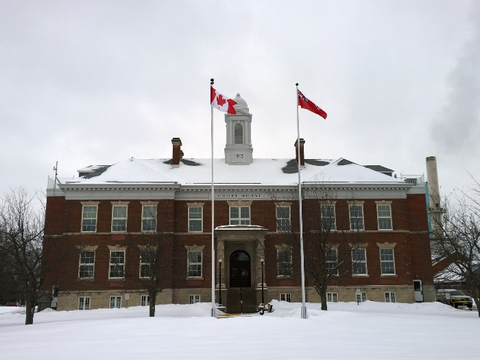 Здание суда в Форт Френсис, Онтарио, Канада. Courthouse in Fort Frances, Ontario, Canada