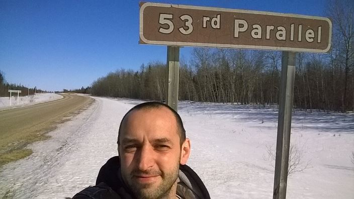 Черняков, 53 парралель северной широты Манитоба Канада Chernyakov 53th parallel north Manitoba Canada