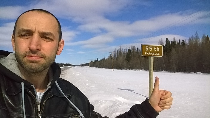 Черняков, 55 парралель северной широты Манитоба Канада Chernyakov 55th parallel north Manitoba Canada