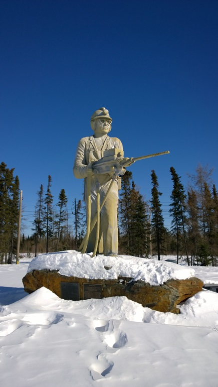 Шахтёр Томпсон Манитоба Канада. King Miner Thompson Manitoba Canada