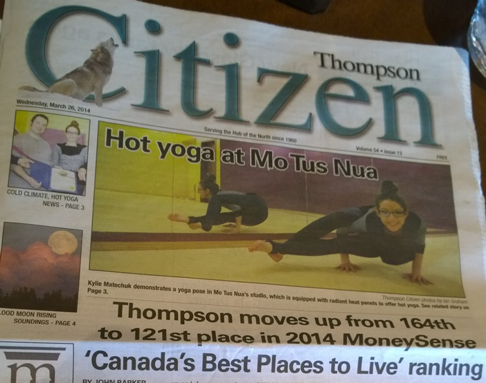 газета Томпсон Манитоба Канада. Thompson Citizen newspaper Manitoba Canada