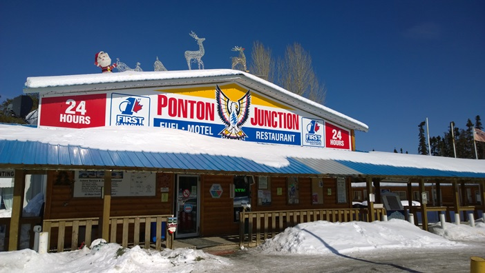 заправка ресторан Ponton Junction Томпсон Манитоба Канада. Fuel, restaurant, Thompson Manitoba Canada