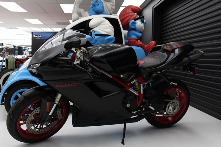 DUCATI 848 EVO Вест Кост Кастомс мотоцикл Джастин Бибер West Coast Customs Justin Bieber bike